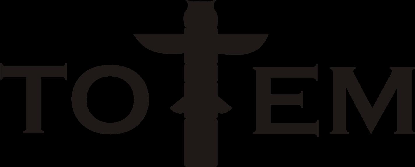 totem logo průhledné pozadí černá